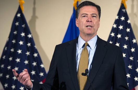 Documents reveal Comey statement edited out possible crimes from Clinton findings