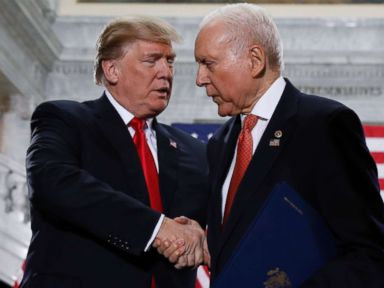 Trump urges Orrin Hatch to run for re-election to keep Romney out of Senate