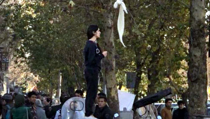 Iran reportedly releases woman who took stand against compulsory veiling during protests