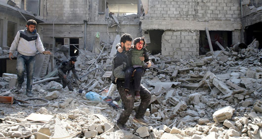 Reports: New Syrian-Russian offensive kills more than 400 civilians in Eastern Ghouta