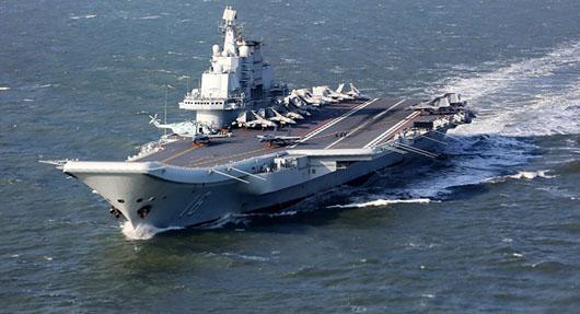 China again sends aircraft carrier through Taiwan Strait