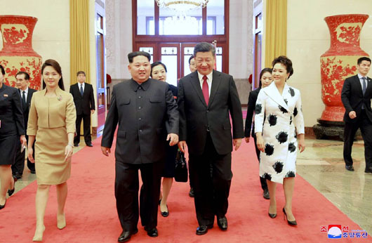 China and N. Korea media provided contrasting official reports on unofficial Kim visit