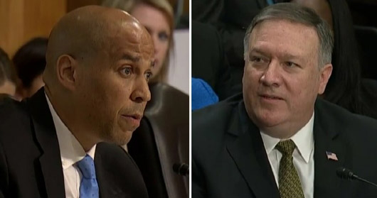Sen. Booker opposes Sec. of State nomination, citing Pompeo's Christian beliefs
