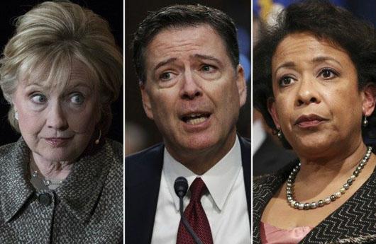 Criminal referral to DOJ: Clinton, Comey, Lynch, McCabe, Strzok, Page