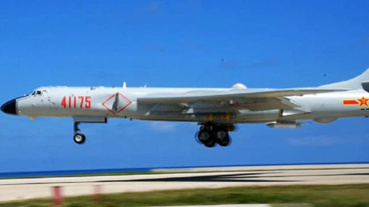 China for first time lands nuclear strike bomber on disputed island