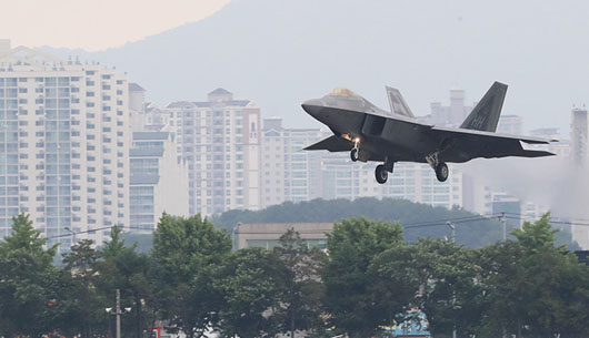 'Max Thunder' exercise, Gadhafi spook N. Koreans: F-22 stealth jets capable of surgical strike