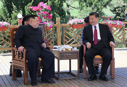 'Comrades' Kim, Xi hold second China meeting in advance of Trump summit