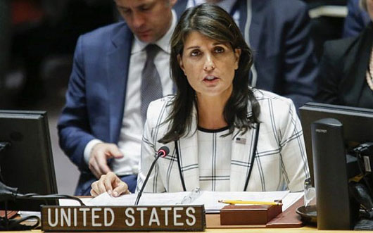 Haley: Palestinians 'deserve a better life' . . . without Hamas
