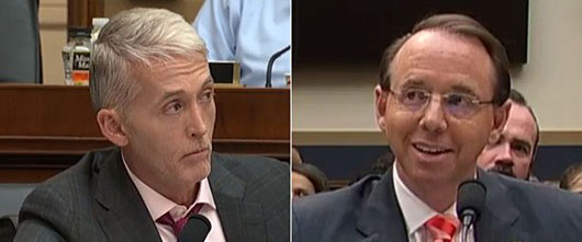 Trey Gowdy to Rosenstein on Russia probe: ''Finish it the hell up!'