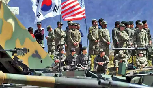 Giving peace a chance: U.S., S. Korean forces salute, hit pause button on war games