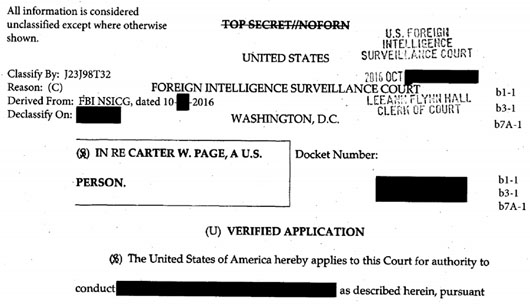 Documents reveal FBI misled FISA court on sourcing, used anti-Trump media reports