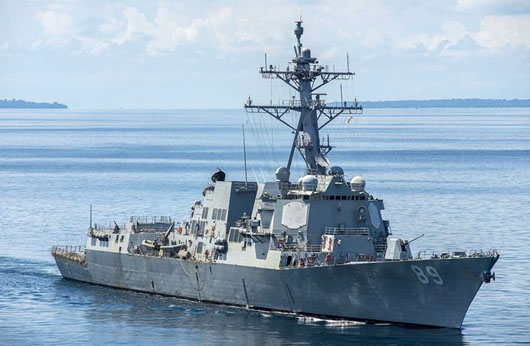 U.S. warships answer China with pass through Taiwan Strait