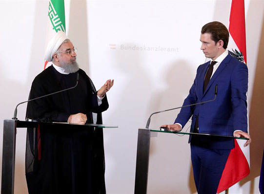 Austria's Kurz to Iran's Rouhani: Calling for Israel's demise 'absolutely unacceptable'