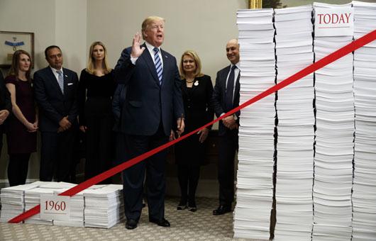 Under Trump, agencies slash regulations at record pace: 12 of 22 surpass savings goals