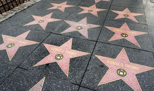 Trump's Hollywood Walk of Fame star multiplies