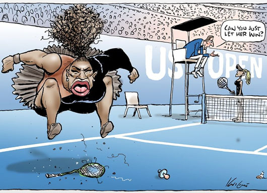 Editor defends cartoonist charged with 'racist' depiction of Serena meltdown