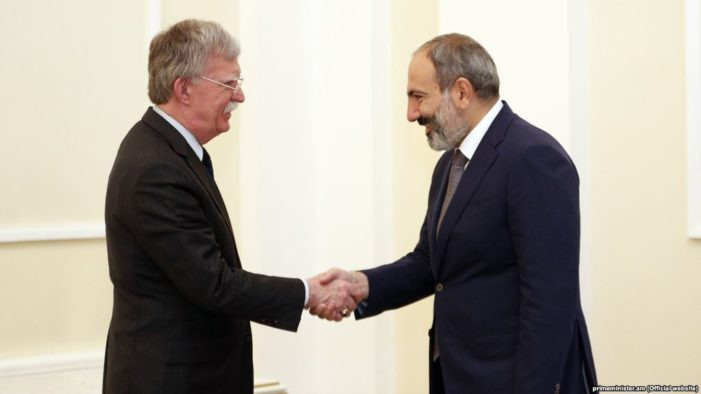 Bolton vows To 'squeeze Iran,' explore weapons sales to Armenia