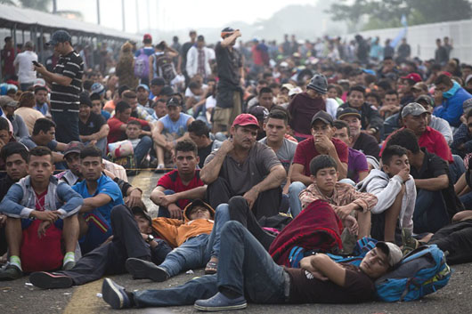 Caravan chaos: Who are these people, who organized them and who is supplying the cash?