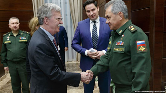 Bolton in Moscow: U.S. bound by INF but Russia, China, Iran, N. Korea are not