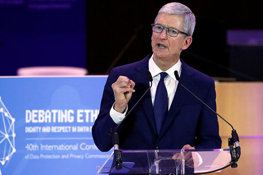Apple's Cook blasts data industrial complex: 'We shouldn't sugarcoat . . . this is surveillance'