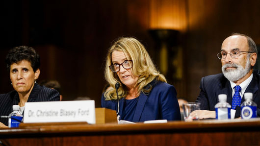 Complaint filed against lawyers for Christine Blasey Ford: Failed to inform her of options