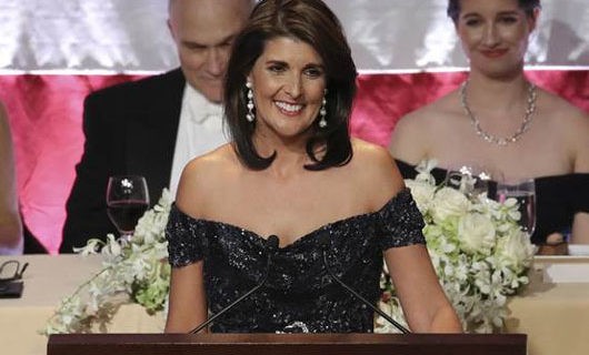 Nikki Haley provides much-needed comic relief at Al Smith Dinner