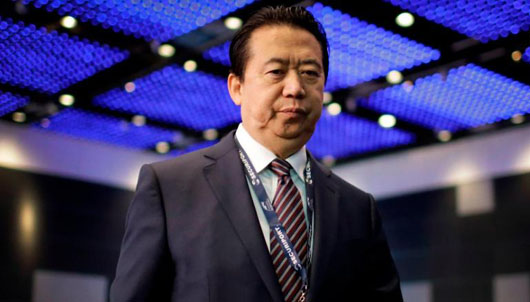 China abducts Interpol president; columnist calls for China's suspension from Interpol