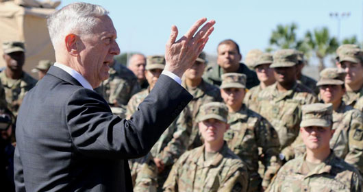 'Nothing can shake you': Mattis fortifies troops on the border, clarifies their role
