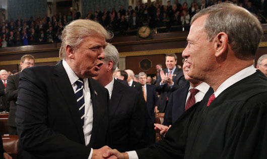 Chief Justice Roberts gets blowback after 'rebuke' of President Trump