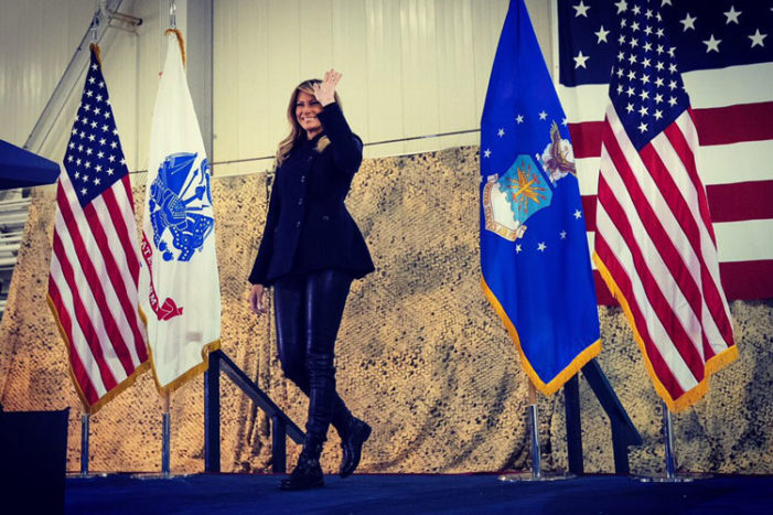 Melania wows the troops at visit to joint base in Hampton, Va.