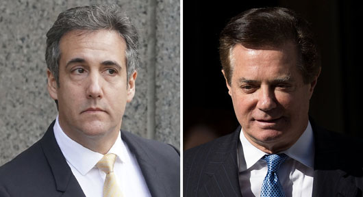 Cohen's and Manafort'smain crimes: Later association with Trump