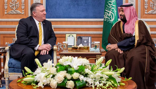 Pompeo in Riyadh: U.S. goal is to help Iranian people gain 'control of their capital'