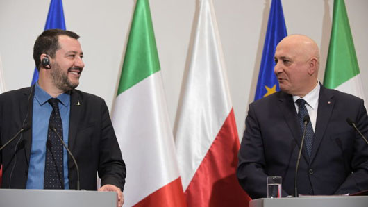 Populist leaders from Italy and Poland tackle 'French-German axis'