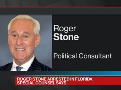 An FBI-CNN exclusive: Stone arrested by agents with large weapons, bullet-proof vests