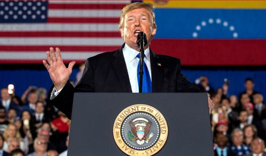 Unreported: President Trump declares 'twilight hour of socialism' in speech to Venezuelans