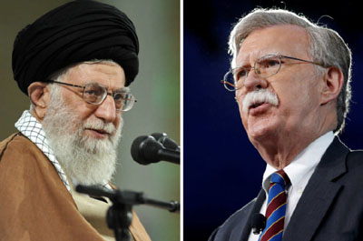 Bolton to Khamenei on 40th anniversary of Iran regime: Time's up