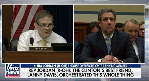 Jordan charges 'Clinton operative Lanny Davis' orchestrated forum for 'convicted felon'