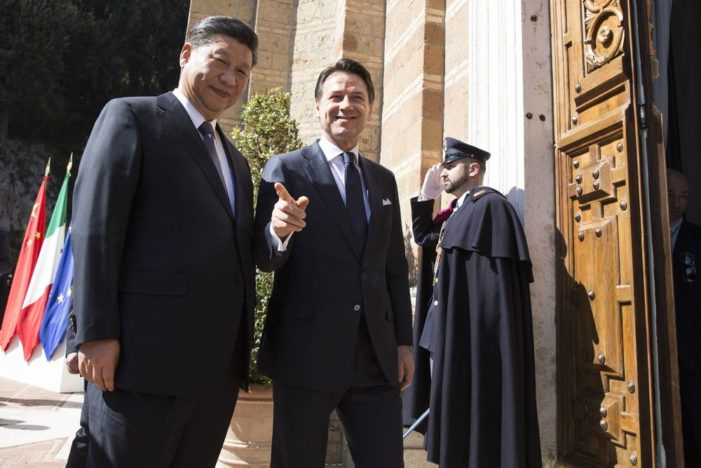 China scores first 'Silk Road' beachhead in the Mediterranan as Xi tours Europe