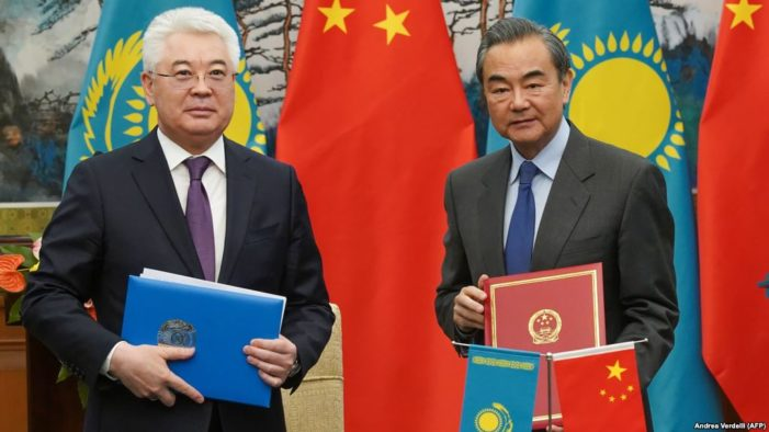 China salutes Kazakhstan's 'support' for internment camps confining 1 million Muslims, including Kazakhs