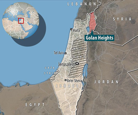 Mideast bombshell: U.S. recognizes 'Israel's Sovereignty over the Golan Heights'