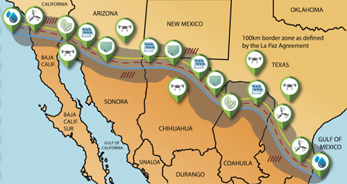 Green wall! Plan calls for chain of alternative energy zones along border