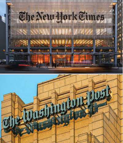 Press foundation: Pulitzer prizes awarded jointly to NY Times, Washington Post should be returned