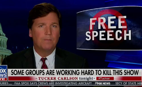 Free Press showdown: Soros-funded group seeks to silence Tucker Carlson