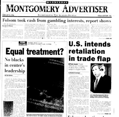 Alabama daily documented problems at Southern Poverty Law Center 25 years ago