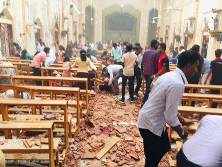 Open season on Christians: 4 hotels, 3 churches bombed, killing at least 207