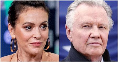 Alyssa Milano calls him 'has been F-lister' after Jon Voight praises Trump