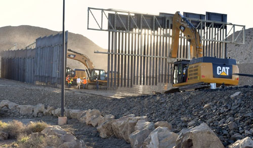 They built a border wall … without the government's money