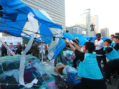 Violence in Seoul as workers hired by leftist mayor destroy conservatives' tents
