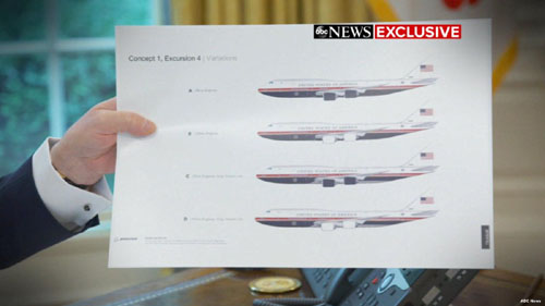 Trump proposes new look for Air Force One; Democrats throw a fit
