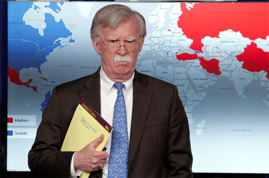 Report: Bolton to deliver U.S. warning to Seoul